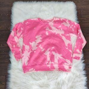 Tie dye pink sweater